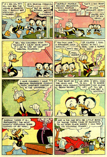 The mad chemist, Donald Duck, 1944.