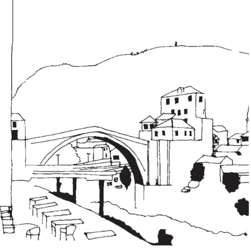 Le pont de Mostar Source : Collectif, Šta Ima ? Ex-Yougoslavie, d'un Etat à l'autre, Editions Guernica Adpe, p. 116 (lire en intégralité en ligne).