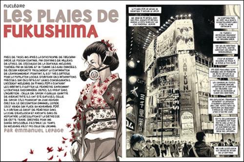Emmanuel Lepage, 2013, « Les plaies de Fukushima », La Revue dessinée, n°2.