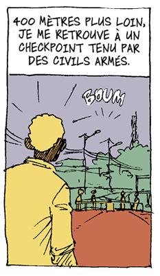 Didier Kassaï, 2014, Bangui, terreur en Centrafrique,extrait de la planche 4, épisode 1.