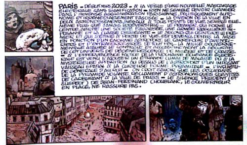 Source : Enki Bilal, 1982, La Foire aux Immortels, © Les Humanoïdes Associés, première case.