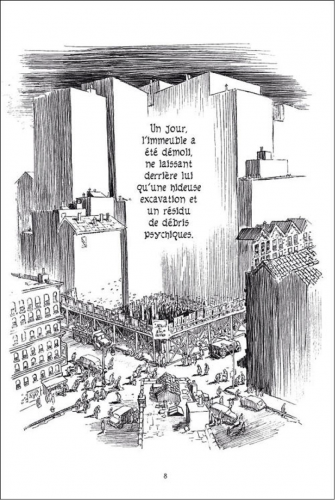 Will Eisner, L'Immeuble, New York Trilogy, tome 2, Delcourt, 2008, p. 8.