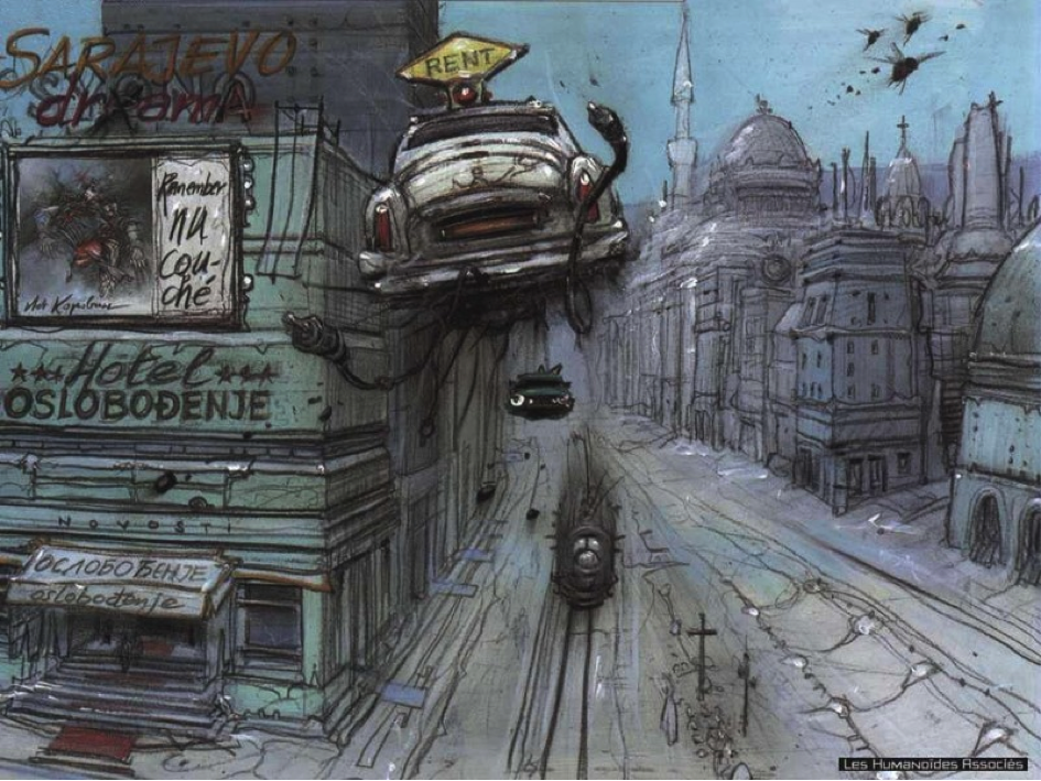 Enki Bilal -  Cool Sci-Fi Concept and Background Art