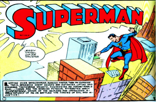 Source : Jerry Siegel et Joe Shuster, Superman.