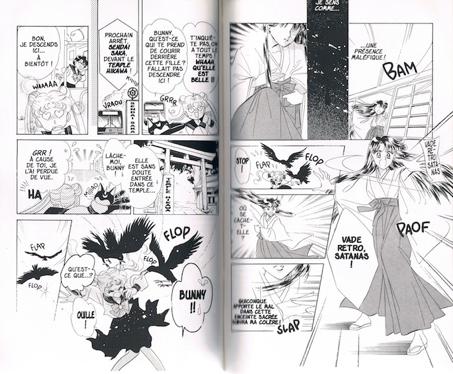 Le temple, un espace-décor dans de nombreux shōjo où la nature en ville est relayée au rôle de décor Source : Naoko Takeuchi, 1992, Sailor Moon, © Glénat, tome 1.