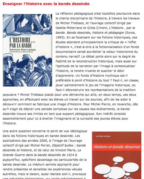 """""""Enseignement (1) : enseigner avec la bande dessinée""""L'article de Vincent Marie, une référence dans la bibliographie notre journée d'études du 16 juin 2014 """"Enseignement et bande dessinée""""."""