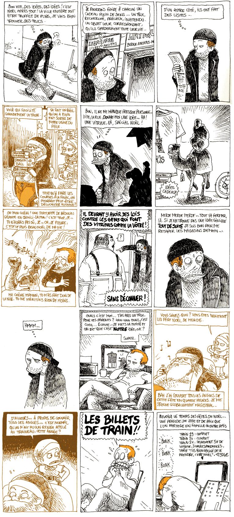 """Le Pire Noël est de retour...Source : Boulet, 2011, """"Le Pire Noël est de retour"""", blog Bouletcorp, 20 décembre 2011."""