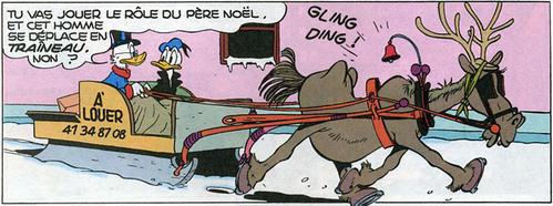 """""""La lettre du père Noël"""" (Picsou Magazine, n°332, décembre 1998) Source : """"Les illustrations de Don Rosa pour les 60 ans de Picsou : 61 Noël avec Oncle Picsou !"""", blog Pmspg, 5 décembre 2007."""