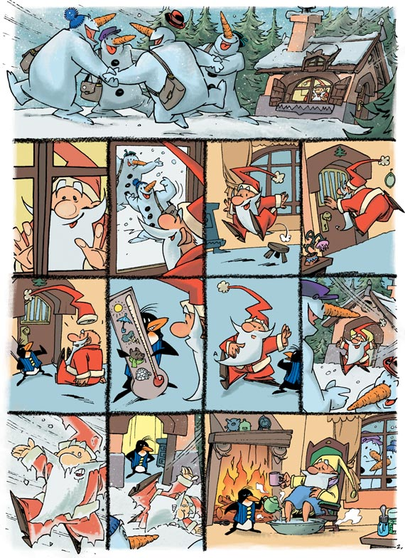 """Source : Robin Thierry, Trondheim Lewis, Bertrand Corinne, Le Gros Véronique, 2002, Petit Père Noël contre le docteur Méchant, tome 3 de la série """"Petit Père Noël""""."""