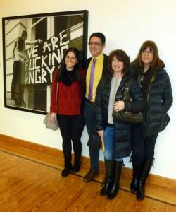 Algunos de los miembros de nuestro equipo en el Parlamento de La Rioja. De izquierda a derecha: Marta Fernández, Rafael Zurita, María Sierra y Susana Sueiro