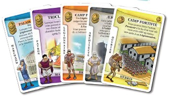 La Gloire de Rome (2011, Carl Chudyk, illustrations Igor Wolski, Lookout Games, Cambridge Games Factory via Asmodée)