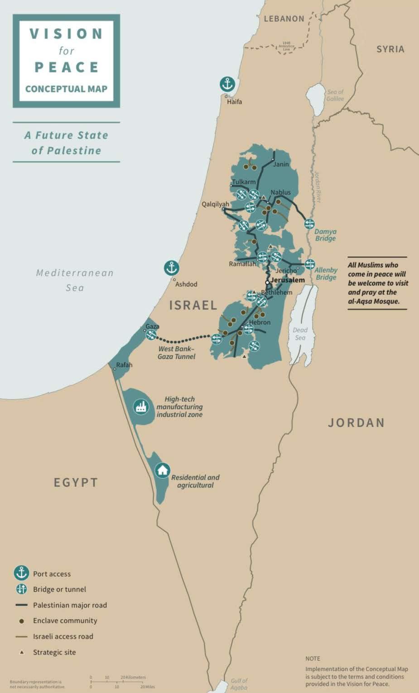 palestine carte géographique