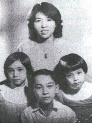 Nga, Kiet, Suong et leur cousine Nhan à Saigon en 1957 © DR