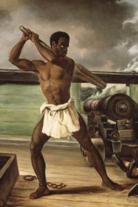 A slave rebellion on a slaveship, 1833