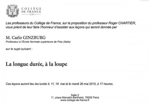 college france-Ginzburg