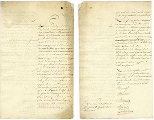 Diplomatische Note, 1815 März 29, NLA - Hannover - Dep. 110 A Nr. 53
