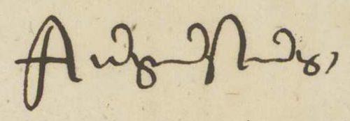 Eigenhändige Unterschrift