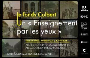 """Appel à communications « Autour du fonds Colbert : """"L'Enseignement par les yeux"""" ou la pédagogie par la projection photographique en milieu scolaire »"""