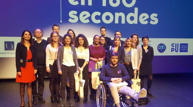 """Lorraine Stravens remporte le Premier prix du Jury du défi """"Ma Thèse en 180 secondes"""" de l'Université de Nantes"""
