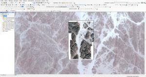 Photos satellites récupérées sur Bing Maps et géoréférencées