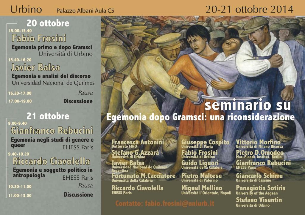 Egemonia Urbino_Locandina_20-21 ottobre 2014