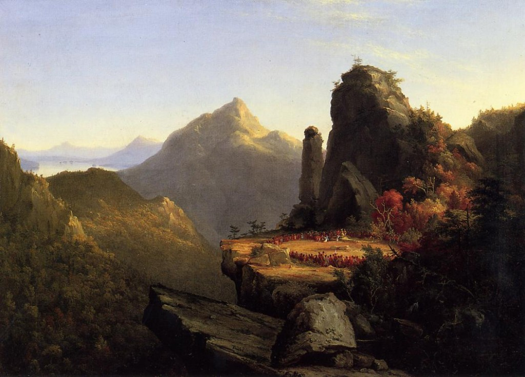 Thomas Cole Scene-from-the-last-of-the-mohicans-cora-kneeling-at-the-feet-of-tanemund-1827