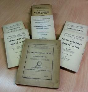 Les collections de la BCU Droit, Economie, Management sur le développement du droit international de la Paix