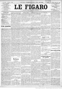 Article Le Figaro suite à la réunion du Conseil supérieur de la guerre du 5 mars 1913
