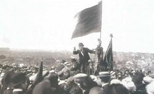 Discours de Jean Jaurès lors de la manifestation du Pré Saint-Gervais le 25 mai 1913