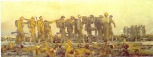 "John Singer Sargent, ""Gassed"" (Gazés), 1918."