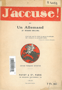 """Edition française du livre """"J'accuse"""" : disponible à la BU Droit"""