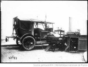 1914voitureradiologiqueMassiotequipeepourpratiquerlaradiologieavecunblesseR