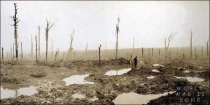 Soldat canadien après la bataille de Passchendaele, 1917.