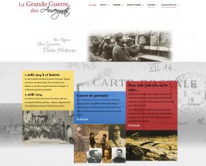 Page d'accueil de l'exposition Virtuelle.