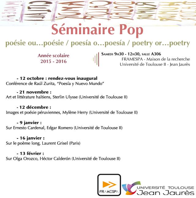 Séminaire POP 2014-2015