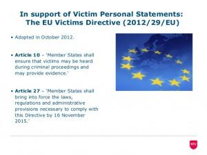 Directive victimes