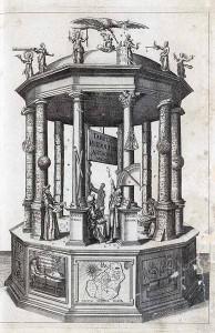 """Titelkupfer aus Keplers """"Rudolphinischen Tafeln"""". FBG, Math. 2° 50/2. © Universität Erfurt, Forschungsbibliothek Gotha"""