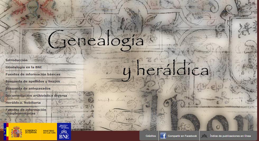 Resultado de imagen de genealogia y heraldica bne
