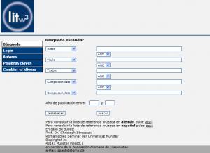 Literaturdatenbanksystem litw3   Suchseite