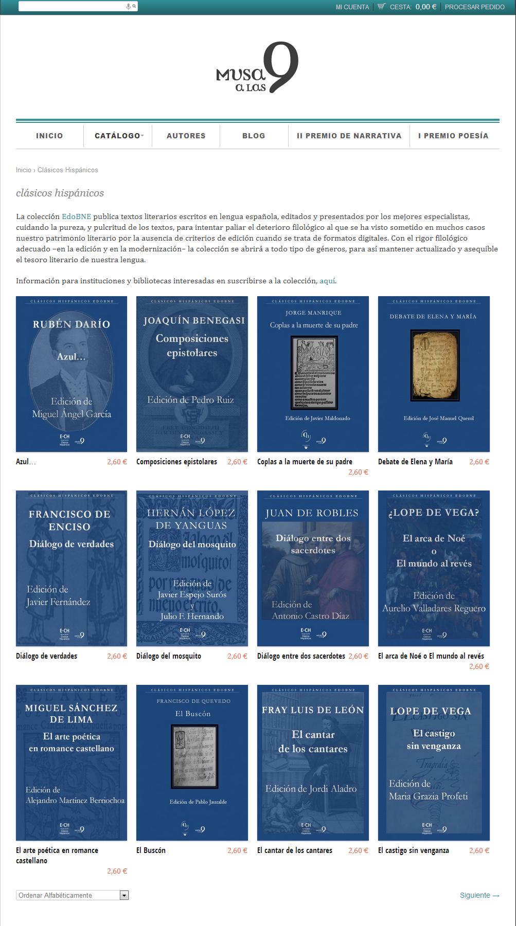 Musa a las 9   Archives for  Clásicos Hispánicos