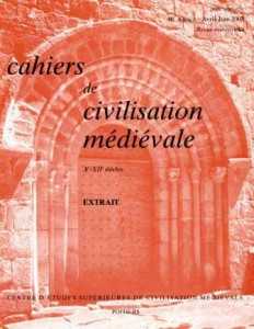 The Cahiers de civilisation médiévale, where I worked under the direction of editor Blaise Royer.