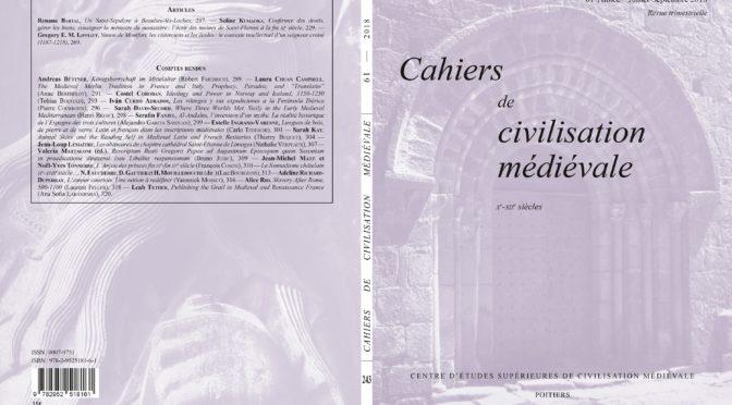 Cahiers de civilisation médiévale 61/3 (fascicule 243)