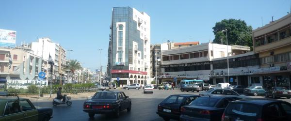 La place Karamé, également nommée place de la Lumière, à Tripoli (sept. 2009, EV)