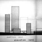 Elevation d'un projet de rénovation pour le quartier de Ghalghoul, P. el-Khoury et A. Salam, archs. (cliché E.Verdeil, 1999, coll. part.)