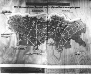 Plan Egli pour Beyrouth, 1950. Source ETH Zurich (DR)