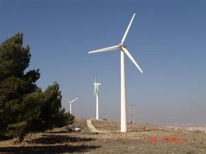 Ferme d'éoliennes de Hofa, Jordanie (photo CEGCO)