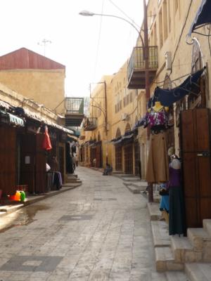 Le souq : c'était vendredi en fin d'après midi, donc toutes les boutiques étaient fermées.