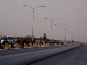 Sur l'autoroute d'Irbid (cc E. Verdeil 2008)
