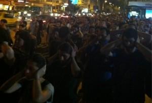 3 Affen-Demo vor dem Gebäude des Medienkonzerns ATV/Sabah in Istanbul, 26.6.2013