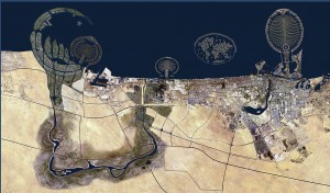 The Buzzfeed's map of Dubai, supposedly from Google Earth